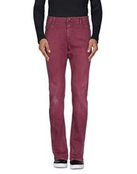 Closed Denim Denim Trousers Men Maroon