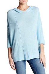Cullen 3 4 Dolman Sleeve Cashmere Hoodie Blue