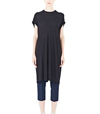 Rick Owens Long T Shirt Dress Black