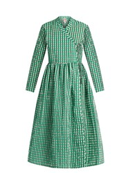 Shrimps Hermione Gingham Dress Green