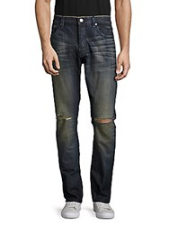 Earnest Sewn Bryant Five Pocket Jeans Dirty Blue