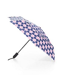Shedrain Polka Dot Auto Open Folding Umbrella Navy