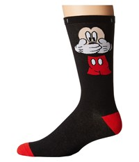 Neff Uh Oh Mickey Sock Black Men's Crew Cut Socks Shoes