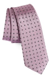 Calibrate Men's Descrete Geometric Silk Tie Pink