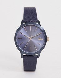 Lacoste 12.12 Leather Watch Navy
