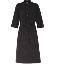 A.P.C. Oleson Linen Blend Dress Black