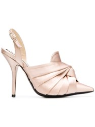N 21 No21 Knot Detail Mules Nude And Neutrals