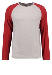 Craghoppers Bayame Long Sleeved Top Soft Grey Marl Carmine Red