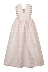 Stripe Midi Prom Dress By Rare Pink