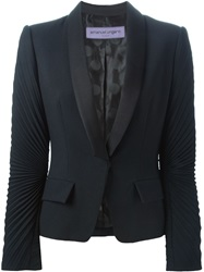 Emanuel Ungaro Pleated Sleeves Blazer Black