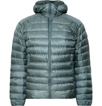 Arc'teryx Cerium Lt Slim Fit Quilted Ripstop Hooded Down Jacket Blue
