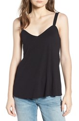 Hinge Smocked Back Tank Black