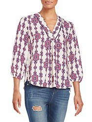 Collective Concepts Ikat Blouse Purple