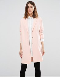 Vero Moda Slouchy Duster Coat Pale Blush Pink