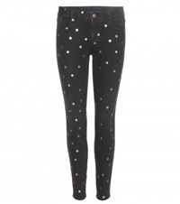 Stella Mccartney Metallic Polka Dot Jeans Black