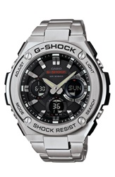 G Shock 'G Steel' Ana Digi Watch 52Mm Silver Black
