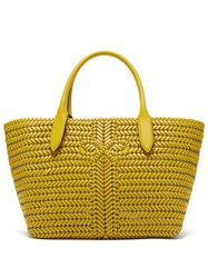 Anya Hindmarch The Neeson Woven Leather Basket Bag Yellow
