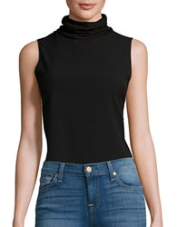 French Connection Sleeveless Turtleneck Top Black