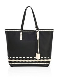 Tod's Stitch Detailed Medium Pebbled Leather Gypsy Tote Taupe Ballerina Black