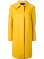 Cedric Charlier Single Breasted Coat Yellow And Orange