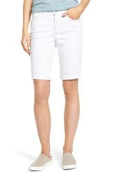 Nydj Women's Briella Roll Cuff Denim Shorts Optic White