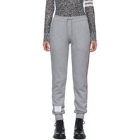 Thom Browne Grey Classic Loopback Stripe Lounge Pants