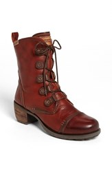 Women's Pikolinos 'Le Mans' Laced Boot Red