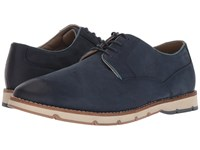 Hush Puppies Hayes Pt Oxford Navy Nubuck Lace Up Cap Toe Shoes Blue