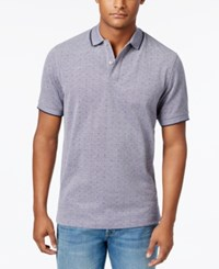 Club Room Men's Dot Pattern Performance Polo Only At Macy's Navy Blue