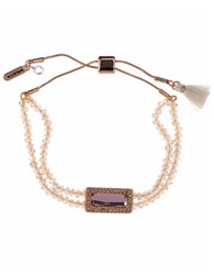 Lonna And Lilly Beaded Slider Braclet Pink