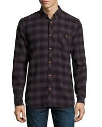 Wesc Olive Plaid Slim Fit Shirt Plum