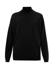 Raey Loose Fit Funnel Neck Cashmere Sweater Black
