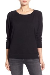 Splendid Scoop Neck Pullover Sweater Black