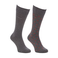 Boss Logo Boss Dot And Solid Socks Pack Of 2 Grey