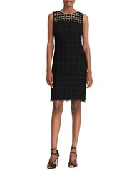 Lauren Ralph Lauren Geometric Lace Dress Black White