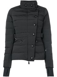Moncler Grenoble Buttoned Padded Jacket Women Feather Down Polyamide Polyester Spandex Elastane 1 Black