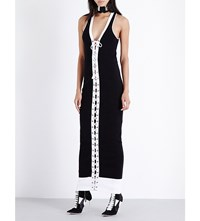 Fenty X Puma Cotton Blend Maxi Dress Black White