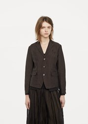 Pas De Calais Textured Blazer Brown