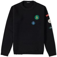 Raf Simons Destroyed Crew Knit Black