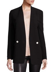 Helmut Lang Collarless Solid Blazer Black