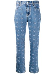 Msgm Youth Slim Fit Jeans Blue