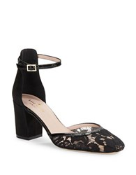 Kate Spade Opal D Orsay Suede And Lace Pumps Black