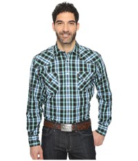 Cinch Modern Fit Western Plaid Black Men's Long Sleeve Button Up