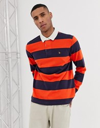 Jack Wills Camber Rugby Stripe Sweat In Navy