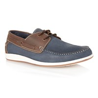 Lotus Exmouth Lace Up Casual Boat Shoes Navy