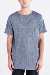 The Narrows Double Neck Tee Navy