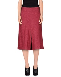 Manila Grace 3 4 Length Skirts Garnet