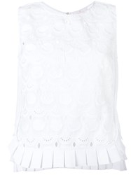 Capucci Embroidered Tank Top White