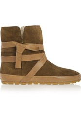 Etoile Isabel Marant Nygel Leather And Shearling Ankle Boots Light Brown