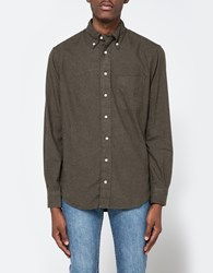 Gitman Brothers Vintage Flannel Button Down In Loden